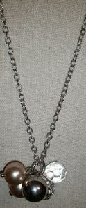 J. Crew Silver, Pave', Bauble Bead Cluster Necklac
